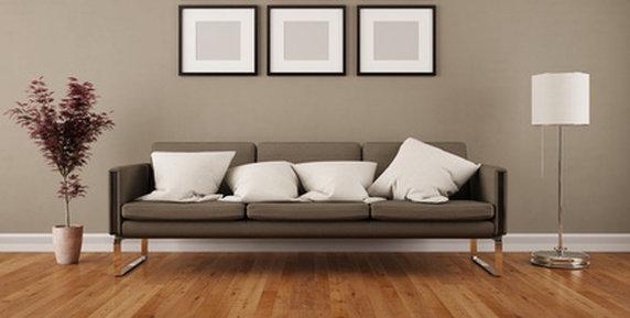 spomis.com | wandgestaltung wohnzimmer schwarz weiße möbel - Farbe Vielli Castell